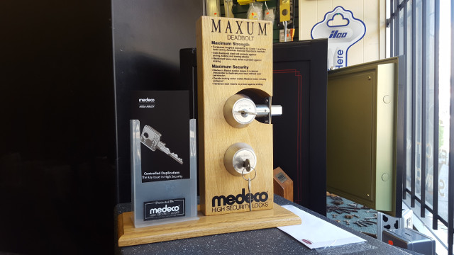 medeco locks on display